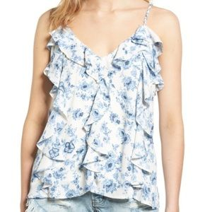 French Blue and White Camisole Top